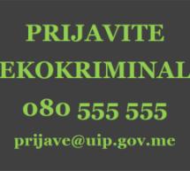 Prijavite EKOKRIMINAL Upravi za inspekcijske poslove