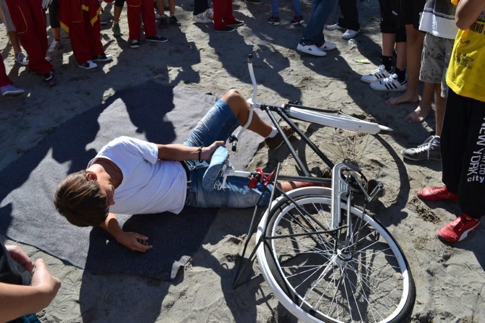 Simulacija povrede na jednoj od vožnji, Foto: Biciklo.me