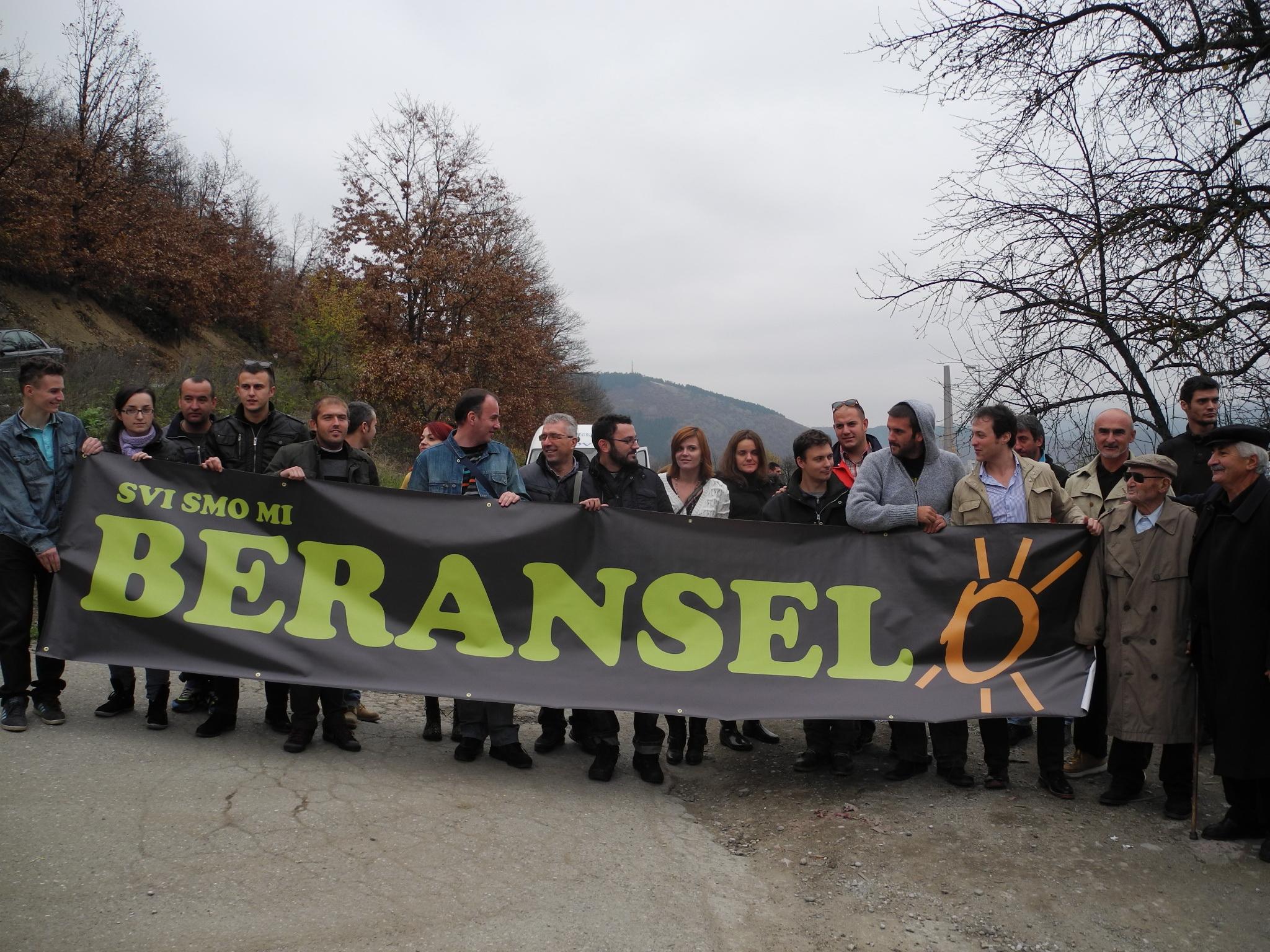 Sa obilježavanja Dana ekoloških pokreta u Beranselu, 17. novembra 2013. godine (Foto: OZON tim)