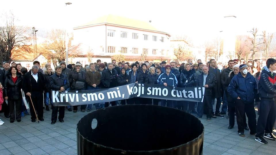 Detalj sa građanskog protesta u Pljevljima (Foto: OZON tim)