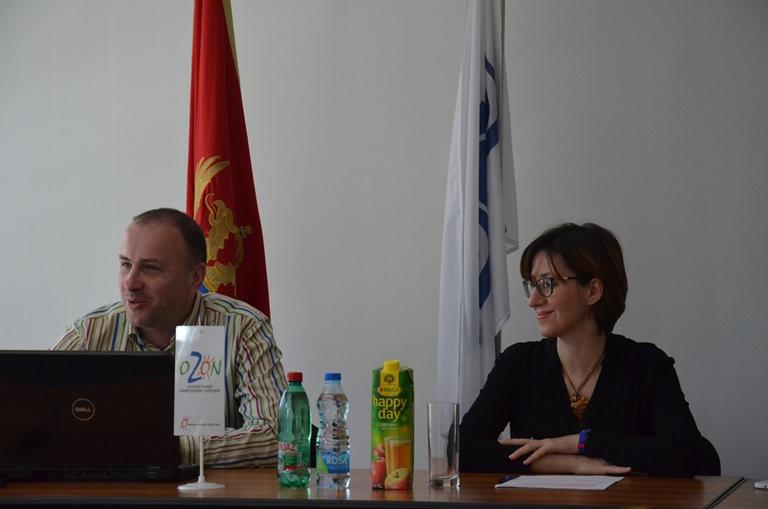 """Radionicu su otvorili Lia Managuagno iz Misije OSCE u Crnoj Gori i Aleksandar Perović iz Ekološkog pokreta ,,OZON"""""""