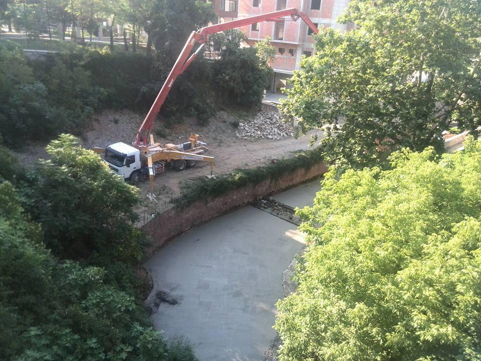 Betoniranje korita rijeke Bistrice (Fotografija koja je poslata uz prijavu)