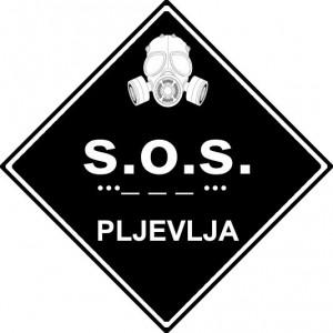 Logo velike građanske akcije #SOS Pljevlja (autor Mladen Ivanović)