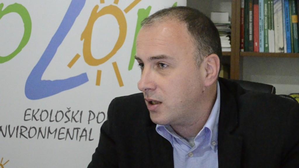 "Aleksandar Perović, direktor Ekološkog pokreta ,,OZON"""