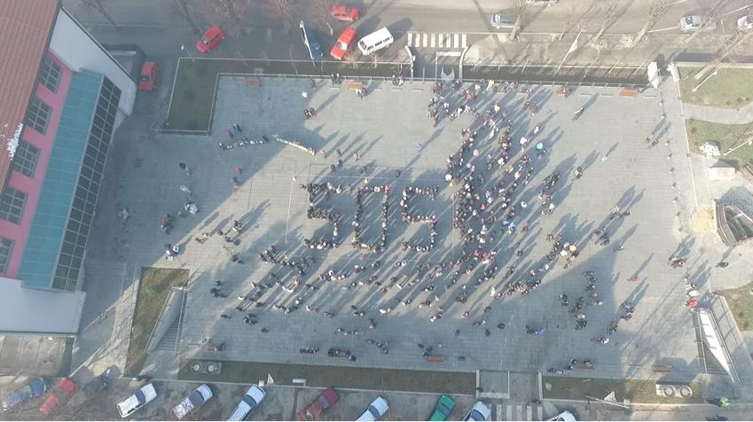 Detalj sa akcije S.O.S. za građane Pljevalja u decembru 2015. godine (Ahivski snimak)