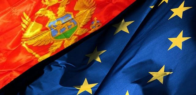 Zastave Crne Gore i Evropske Unije
