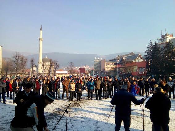Detalj sa građanskog skupa u Pljevljima (Foto: V. Kadic)