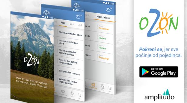 "Nova aplikacija Ekološkog pokreta ,,Ozon"""