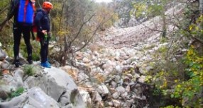 Zatrpavanje kanjona rijeke Drenovštice zbog radova na dalekovodu