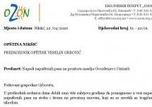 Ozon pisao Predsjedniku opštine Nikšić: Zaštiti dobrobit ljudi i životinja