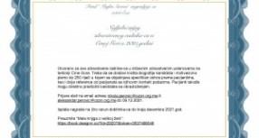 """Fond """"Majka Savica"""" nagradjuje sa 1000 Eur Najljubaznijeg zdravstvenog radnika-cu u Crnoj Gori u 2021.godini"""